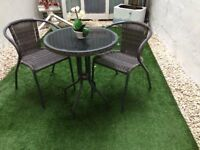 Stylish garden table with 2 chairs