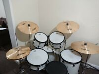 Ludwig Accent Fusion Drum Kit And Hardware