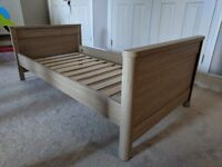 Mamas and Papas wooden cot bed / toddler bed