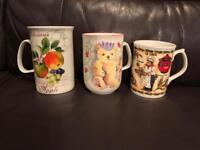 Fine Bone China mugs NEW