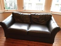 2 matching leather sofas - with delivery