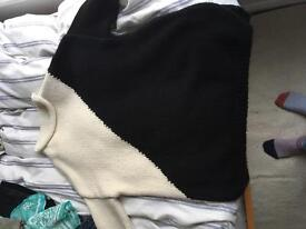 Monochrome jumper from Zara size M