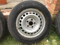 "16"" 5x112 steel wheels with tyres for VW T5 Transporter"