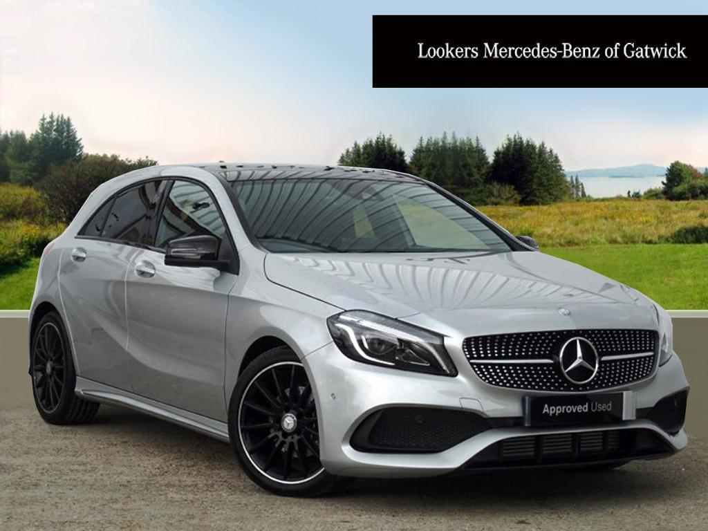 mercedes benz a class a 200 d amg line premium plus silver 2017 03 22 in crawley west. Black Bedroom Furniture Sets. Home Design Ideas