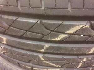 4 pneus d'été 215/60/17 Hankook Ventus V2 25% d'usure, mesure 8/32.