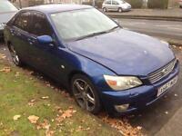 2001 Lexus IS 200, automatic mot n taxed sat Nav £460