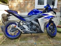 YAMAHA R3, LOW MILEAGE, AKRAPOVIC (REDUCED PRICE)