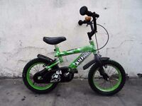 Kids Bike, Raleigh, Green, 14 inch Wheels, Great for Kids 4 Years, JUST SERVICED / CHEAP PRICE!!!!!!
