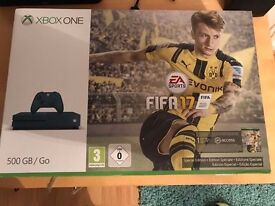 xbox one s 500gb console (blue) & 7 games inc fifa 17 , 11 months warranty ! boxed ! price stands !