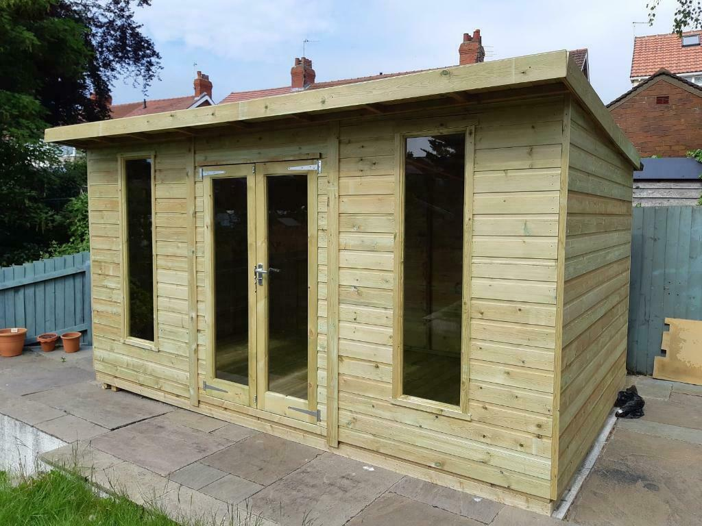 cd6c27a01bef2 Modern Pent summer house 10x8 loglap all size available | in Mottram,  Manchester | Gumtree