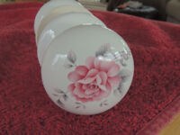 For Sale , white porcelain door handles with floral designe on ball type handles 20 pairs in total