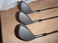 WILSON 1 , 3 , & 5 Metal Wood's. Apollo steel shaft's,