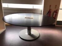 high quality office round meeting table with cable management boardroom