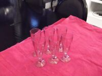 £ 5 6 pink crystal d' arques glasses.