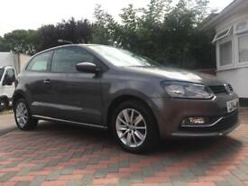 £6249-2014 VW VOLKSWAGEN POLO-MANUAL-1.0-PETROL-LADY OWNER-HPI CLEAR-LOW MILEAGE-FULL SERVICE HIS