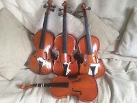 4x violins job lot