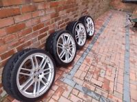 """19"""" Wheels with Tyres 235/35 5x100 VW"""