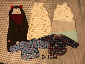 0-12 month sleeping bags and bibs