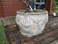 Stone round planter