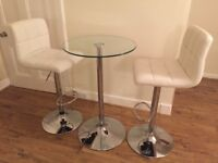 Dining bar table and 2 stools