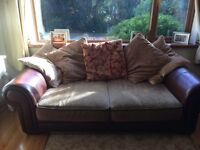 Wide seat cushion sofa