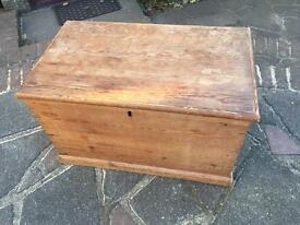 Pine blanket box nice old condition £50