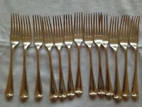 12 Vintage Silver Forks