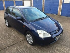 2001 Honda Civic 1.6 SE Automatic, 89000 Mileage, Full Service History, Long MOT