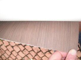 Vinyl flooring Lino Modern Brown striped Brand New, Quality 1m x 3m