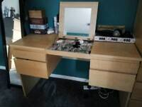 Ikea dressing table w/integrated mirror