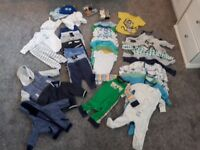 Bundle of baby boy clothes - 3-6 months