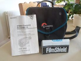 Sony Video8 Handycam with bag and accessories. Seldom used. See Photos.