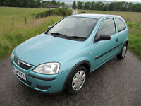 Vauxhall Corsa 1.0 12V Life. Long MOT, Low miles,Low insurance only £1375 ono