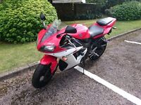 Yamaha YZF R1, 2002, fuel injected, Red / White, New Tyres
