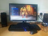 Full Gaming System. 256 SSD, Radeon 7870 on an AMD Quad-Core 3.4 GHz CPU. Plays games on High.