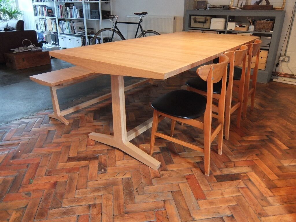 Habitat Parker Dining Table Bench And Vintage Chairs