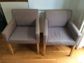 2 grey dining/occasional chairs for sale (original price £198)