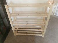 For sale wooden shelves