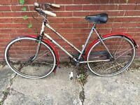 Very rare Raleigh Lenton Tourist bike. Useable as is!