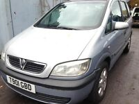 1999 Vauxhall Zafira 1.8 Comfort silver z 151 BREAKING FOR SPARES