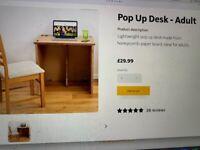 Foldable adult desk