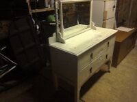 Vintage shabbie chic dressing table and mirror