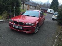 '04 BMW E46 3 Series 318d M Sport Facelift Imola Red Saloon 4 Door Manual 175k