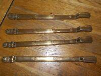 Vintage Art deco Solid brass Window casement stay lever arm latch catch openers