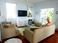 Beautiful 2 bedroom/2 bathroom apartment for rent in Barbados with aircon and large veranda