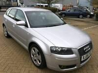 Audi A3 Automatic Fsi Sports,Cream leather seats,low miles,3Keys