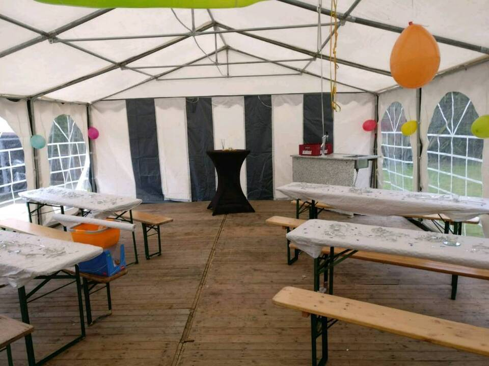 8x6 Meter Festzelt Partyzelt Eventzelt Zelt mieten in Herten