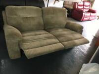 Rrp £899 ex display baron jumbo cord 3 seater manual reclining sofa only £349