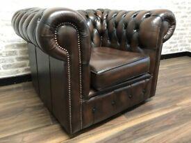 Antique Brown Chesterfield Club Chair