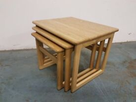 BRAND NEW WOODEN NEST OF TABLES SOLID WOOD TABLES DELIVERY AVAILABLE